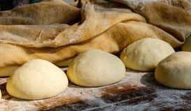 Kuchen des klebrigen Reises am Markt in Mandalay, Myanmar Stockfoto
