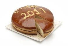 Kuchen 2017 des neuen Jahres Lizenzfreie Stockfotografie