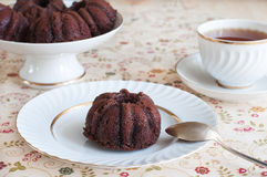 Kuchen des Schokoladenstrengen vegetariers Stockfotografie