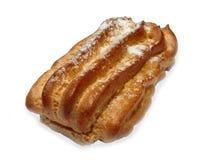 Kuchen Eclair getrennt auf dem Weiß Stockfoto