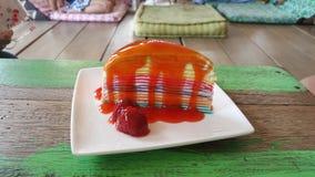 Kuchen-Erdbeere Lizenzfreies Stockbild