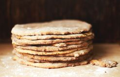 Kuchen für Kuchen Kuchen-Herstellung Lizenzfreies Stockfoto
