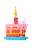 Kuchen gebildet vom Confetti Stockfoto