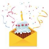 Kuchen im Umschlag Stockbilder