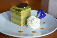 Kuchen Japaner Matcha Greentea Lizenzfreies Stockfoto