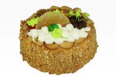 Kuchen lokalisiert auf weißem Hintergrund Stockfotografie