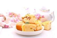 Kuchen mit Äpfeln lizenzfreies stockbild
