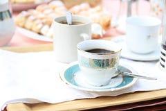 Kuchen mit coffe Lizenzfreie Stockfotografie