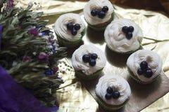 Kuchen mit Creme Lizenzfreies Stockfoto
