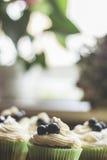 Kuchen mit Creme Lizenzfreie Stockfotos