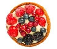Kuchen mit Draufsicht der frischen Beeren Lizenzfreies Stockfoto
