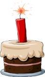 Kuchen mit Dynamit Stockbild