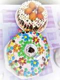 Kuchen mit eigenen Händen Stockfotografie