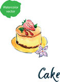 Kuchen mit Erdbeere Stockfotografie