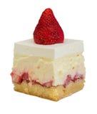 Kuchen mit Erdbeerefüllung Lizenzfreies Stockbild
