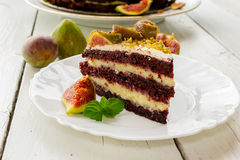 Kuchen mit Feigen Lizenzfreies Stockbild