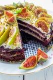 Kuchen mit Feigen Lizenzfreie Stockfotos