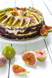 Kuchen mit Feigen Lizenzfreie Stockbilder