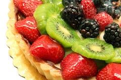 Kuchen mit Frucht Stockfotos