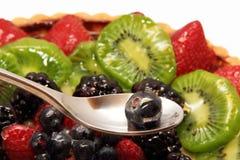 Kuchen mit Frucht Stockbilder