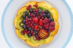 Kuchen mit Frucht Stockbild