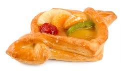Kuchen mit Frucht und berrie Lizenzfreies Stockfoto