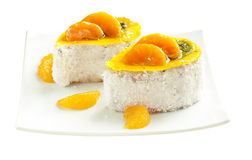 Kuchen mit Gelee und Frucht stockfoto