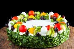 Kuchen mit Gemüse Lizenzfreie Stockfotos