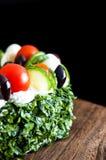 Kuchen mit Gemüse Lizenzfreies Stockbild