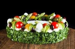 Kuchen mit Gemüse Stockfotos