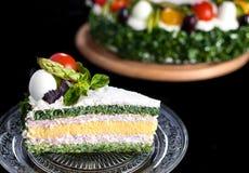 Kuchen mit Gemüse Stockfoto