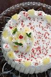 Kuchen mit gepeitscht Lizenzfreie Stockbilder