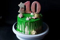 Rosa Glasig Glanzender Europaischer Kuchen Stockbild Bild Von