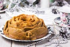 Kuchen mit Kürbis, Zucchini und matcha Lizenzfreie Stockfotos