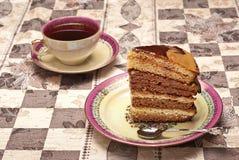 Kuchen mit Kaffee Lizenzfreie Stockbilder