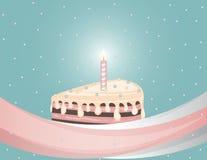 Kuchen mit Kerze Stockfotos