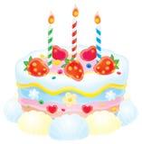 Kuchen mit Kerzen vektor abbildung