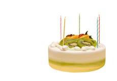Kuchen mit Kerzen Lizenzfreies Stockfoto