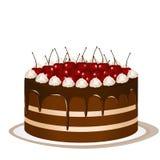 Kuchen mit Kirschen Lizenzfreie Stockfotos