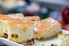 Kuchen mit Kokosnuss und Ananas Lizenzfreie Stockfotos