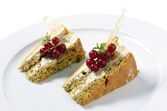 Kuchen mit Korinthen Lizenzfreie Stockfotos