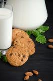 Kuchen mit Milch Stockbilder