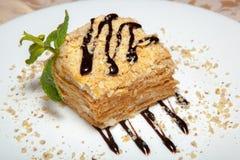 Kuchen mit Minze 2 Lizenzfreies Stockfoto