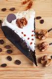 Kuchen mit Nuss lizenzfreies stockfoto