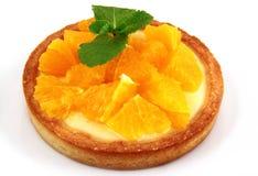 Kuchen mit Orange Lizenzfreies Stockbild