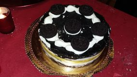 Kuchen mit oreo Stockbild