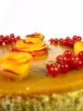 Kuchen mit Pfirsichen Stockfotos
