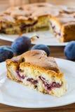 Kuchen mit Pflaumen Lizenzfreie Stockfotografie