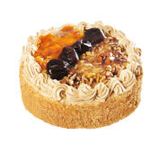 Kuchen mit Pflaumen und Walnüssen Lizenzfreies Stockfoto