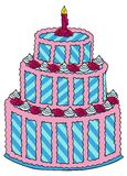 Kuchen mit Rosen Stockbild
